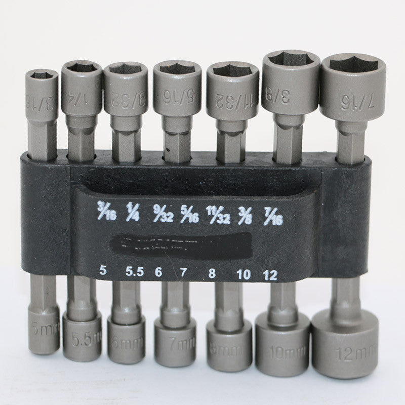 "14pc Power Nut Driver Set Black Case Dual Metric & Standard Sae 1/4"" Shank Screwdrivers Nutdrivers Nut Driver Socket Bits Drill"