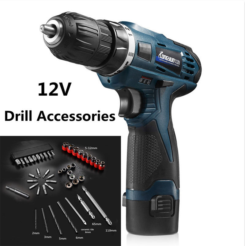 12V Rechargeable Lithium Battery Wireless hand Electric Drill bits household cordless Electric Screwdriver wrench power tools
