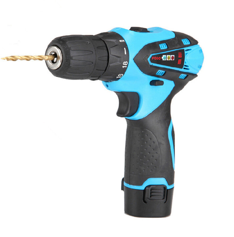 12V rechargeable lithium battery Impact electric drill bit household Waterproof Multi-function Screwdriver Power Tools