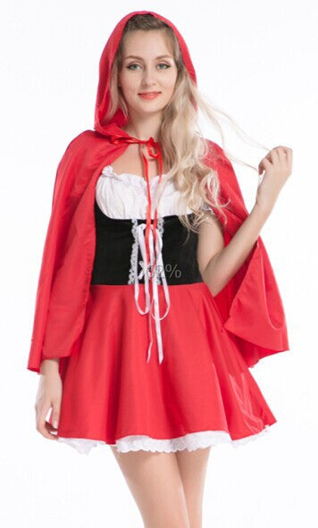 FREE SHIPPING Halloween Fairy Storybook Character Little Red Riding Hood Fancy Dress Costume