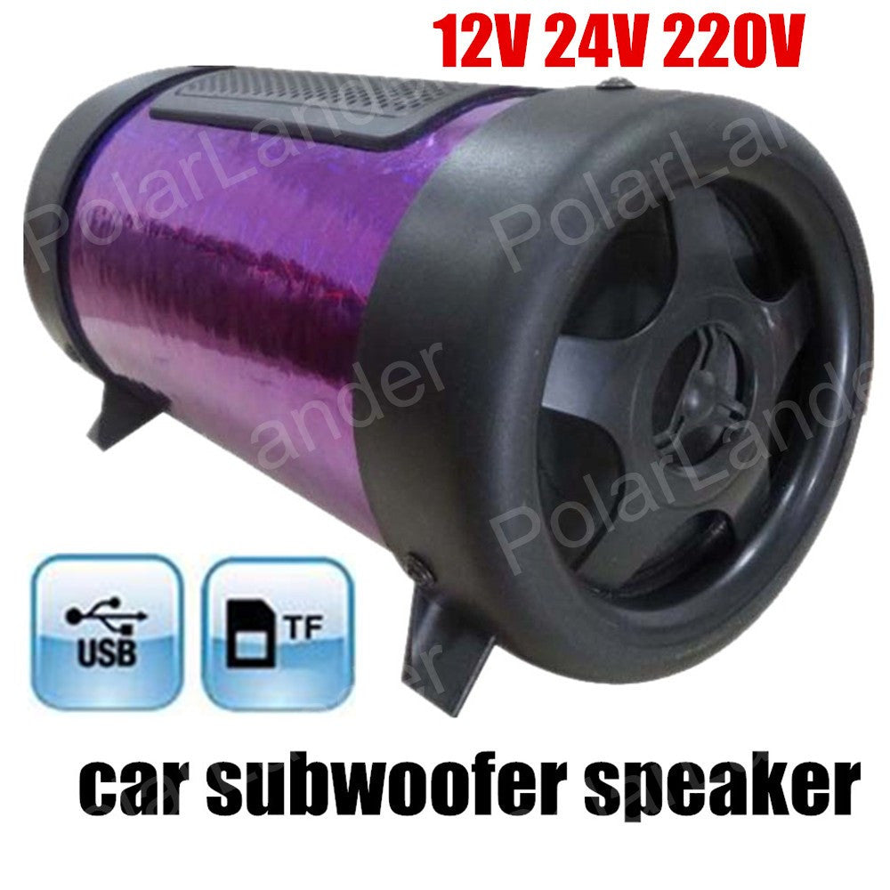 Manufacturers 4 inch round car subwoofer 12 V stereo car speakers support TF U disk MAX power 50W 3 colors for option