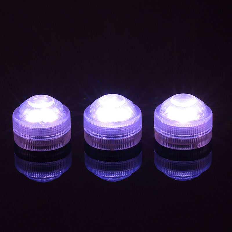 10pcs Wedding Decoration Single Color Waterproof Submersible Led Tea Light Mini Party Light With Battery For Halloween Christmas
