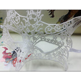 2016 1Pc Black White Sexy Lady Lace Masks Cutout Eye Masks for Halloween Masquerade Party Fancy Dress Costume Fox Mask