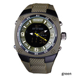 men sports watches military army green outdoor dual display Quartz Digital Watch swim waterproof  rubber band watch  BOAMIGO