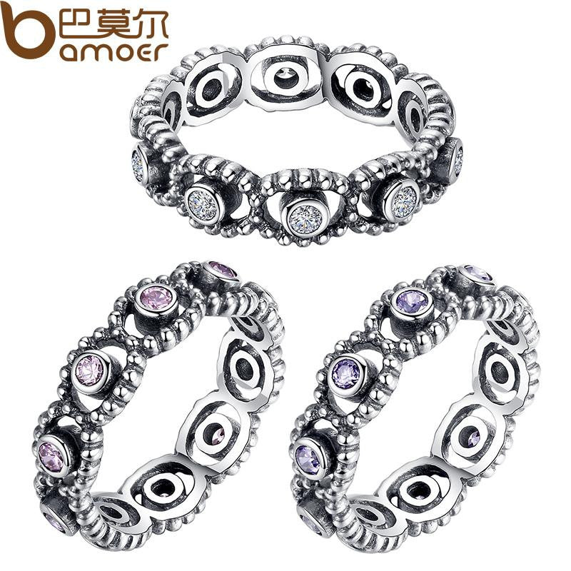 HOT 925 Sterling Silver Wedding Rings With Crystal For Women Compatible With Original Pandora Ring identical Jewelry