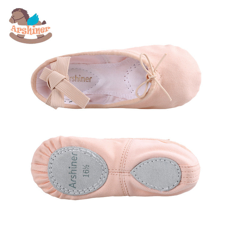 Arshiner Ballet Dance Dancing Shoes Pointe For Children Kids Girls Soft Flats Shoes Comfortable Fitness Breathable Slippers
