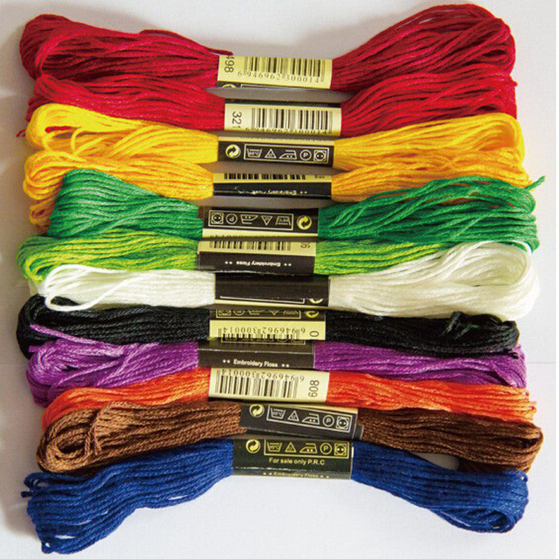 Cross Stitch threads    The Unique Style 10 Cross Stitch Cotton Embroidery Thread Floss Sewing Skeins Craft Dofferent Colors