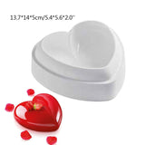 Silicone Twist Big Disc Heart Twist Pillow Shaped Cake Tools DIY 3D Bakeware Chocolate Bread Mold Cake Pan Fondant  Soap Mold