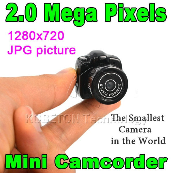 New HD CMOS 2.0 Mini Camcorder Micro Portable camera Mega Pixel Pocket Video Camera 480P DV DVR Recorder 720P JPG Can up to 32G