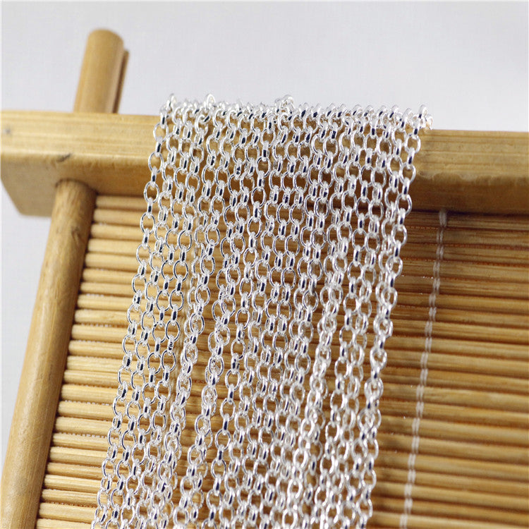 20Pcs 16,18,20,22,24,26,28,30Inchs Necklace Chains Genuine 925 Jewelry Sterling Silver Link Necklace Sets +Lobster Clasps Snake