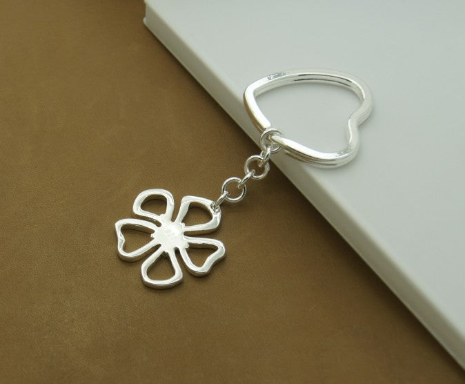heart round dragonfly cross charm tag Wholesale Fashion Jewelry 925 Silver key chains silver  sterling silver key rings