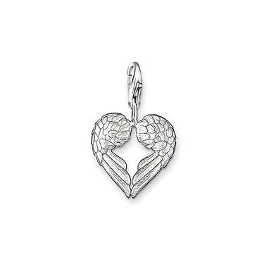 Silver Plated Pendant presents is a pair of angel wings, the wings together from a heart charms Fit Bracelet TS-CH0905