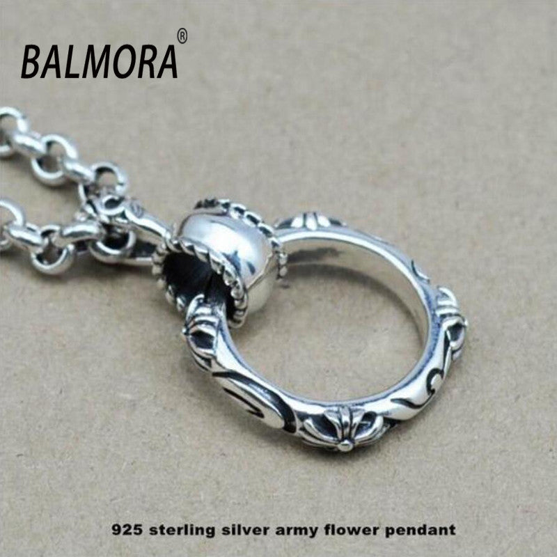 100% Real Pure 925 Sterling Silver Jewelry Cross Round Pendant Fits for Necklaces for Men,Male Cool Jewelry,Free Shipping HYP006 - Blobimports.com