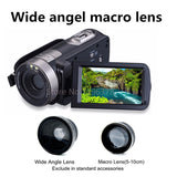 Night Vision IR Day/Night Full HD 1080p Digital Video Camera Photo Touch Remote Wide Angel Lens Portable Mini Camcorder HDMI