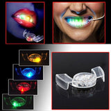 2 pcs/lot  Colorful Flashing LED Light Mouth Guard tooth socket Party Glowing Teeth Halloween Festive Party Supplies Toy S2