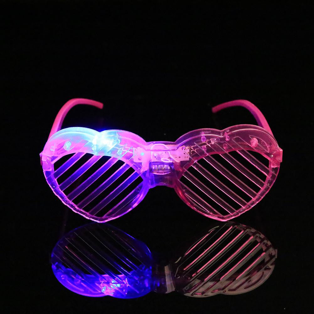 Brand New Flashing party heart glasses light up flash LED glasses decorative party mask 1 pcs,Club Disco