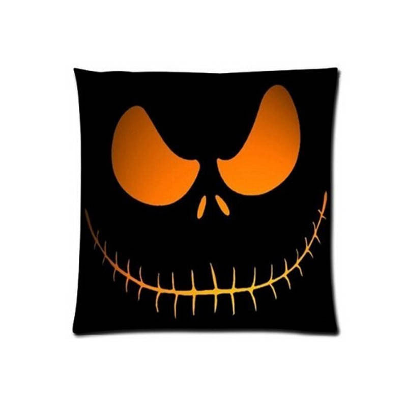 Customized Halloween Funny Square Two Sides Pritning Beauty Pillow Cover Bedding Set Home Product