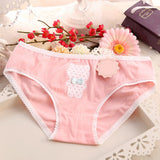Bowknot cartoon Bear Lovely Girls triangle underpants patchwork color lace laciness lady briefs Sexy cotton women Panties