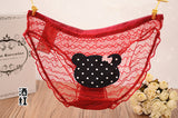 High Quality Women Lace Sexy Panties Transparent Lingerie Bear Cute Briefs Lady Lingeries Bow Underwear Intimates 4LS042