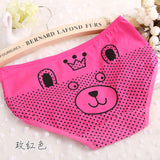 2016 Hot sale Brand Sexy Cute Lovely Bear Dot Calcinha Casual Underwear Women Cotton Women's Panties Butt Lifter Briefs