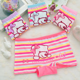 Cute cartoon printing children's underwear. Cotton baby boxers. girl underwear stripe bear girls Panties briefs size:2-10years