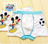 free shipping, New arrival cartoon children Underwears boys Bears Boxers Short Kids mickey Briefs Panties 3-13years 95% cotton