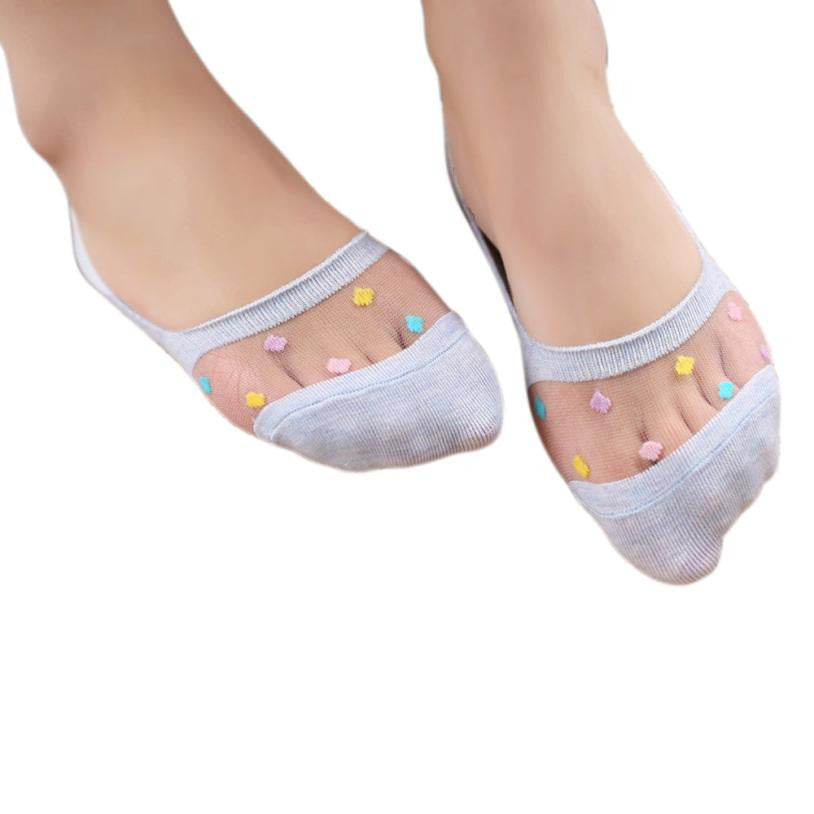 12Pair/Pack Candy Colors Girls Cute Cotton Socks Low Cut No Show Socks Non-slip Clothes For Kids