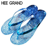 Bling Glitter Flip Flops Summer Style Clogs For Women Sandals Platform Jelly Shoes Woman Casual Slippers Fashion Flats XWT336