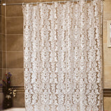 3D translucence Vine Pattern Mildew Proof PEVA Bathroom Shower Curtain Waterproof Bath Curtain With Hooks Europe Style YL41
