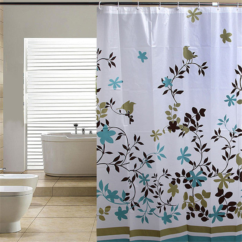 Amazing 180*180CM PEVA Bath Curtains Waterproof Bathroom Shower Curtain with Hook plant style 2016 hot selling