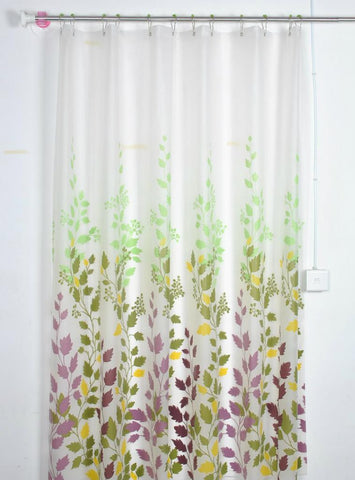 Hot Explosion Bathroom Plastic Waterproof Mildew Polyester Curtain European Garden Maple Peva Shower Bath