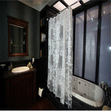Europe Lvory White Waterproof Shower Curtain PEVA Flower Pattern Home Bathroom Mildew Bath Curtain With 12 Hooks YL09
