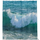 Sea Scenic Bathroom Printed Shower Curtains Waterproof Bath Curtains With Hooks