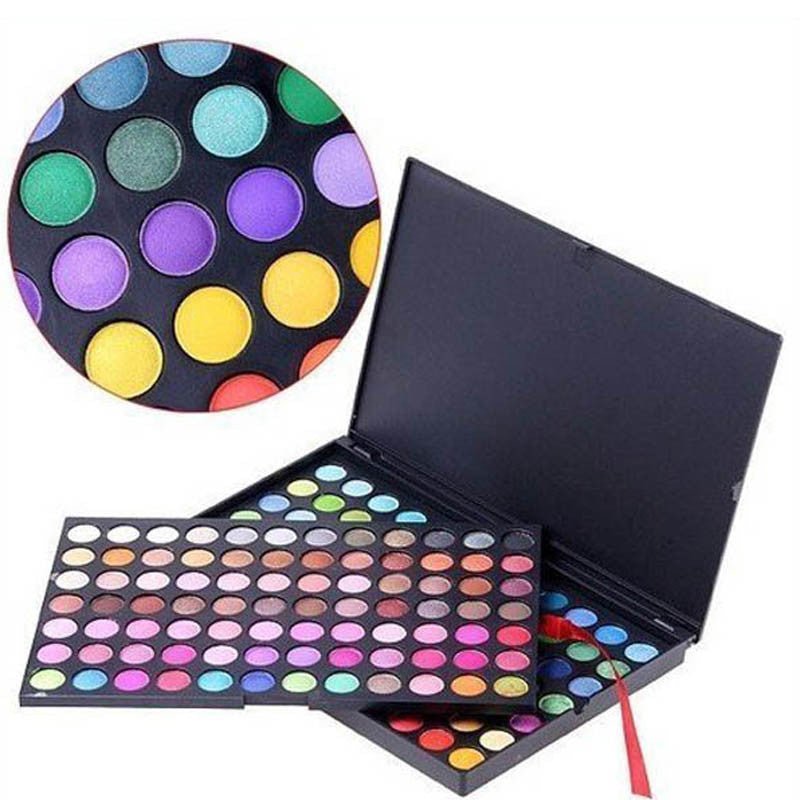 Professional Camouflage Gloss Neutral Cosmetic Pro 168 Color Makeup Eyeshadow Palette