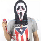 2016 New Arrival Halloween Bleeding Ghost Face Mask Masquerade Latex Party Dress Skull Ghost Scary Scream Mask Face Hood