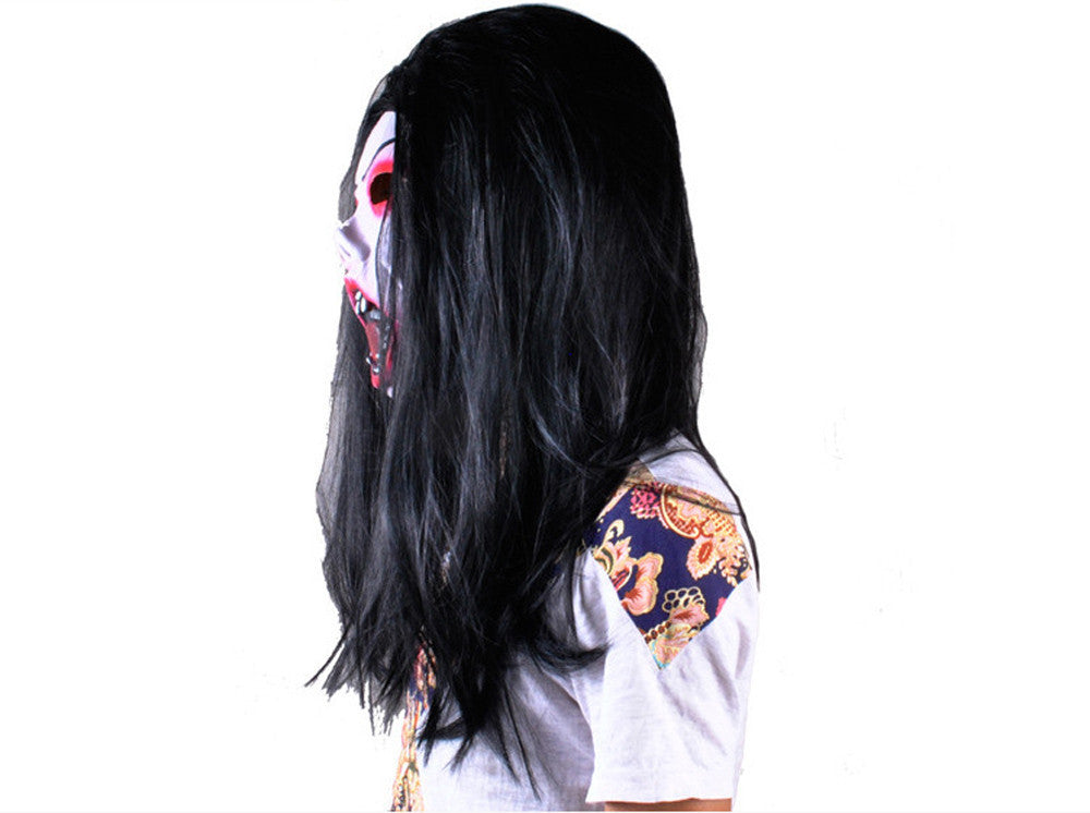 Halloween costumes Mask Black Long hair Cosplay ghost mask Blooding Ghost  Halloween Clothing Scary Costumes