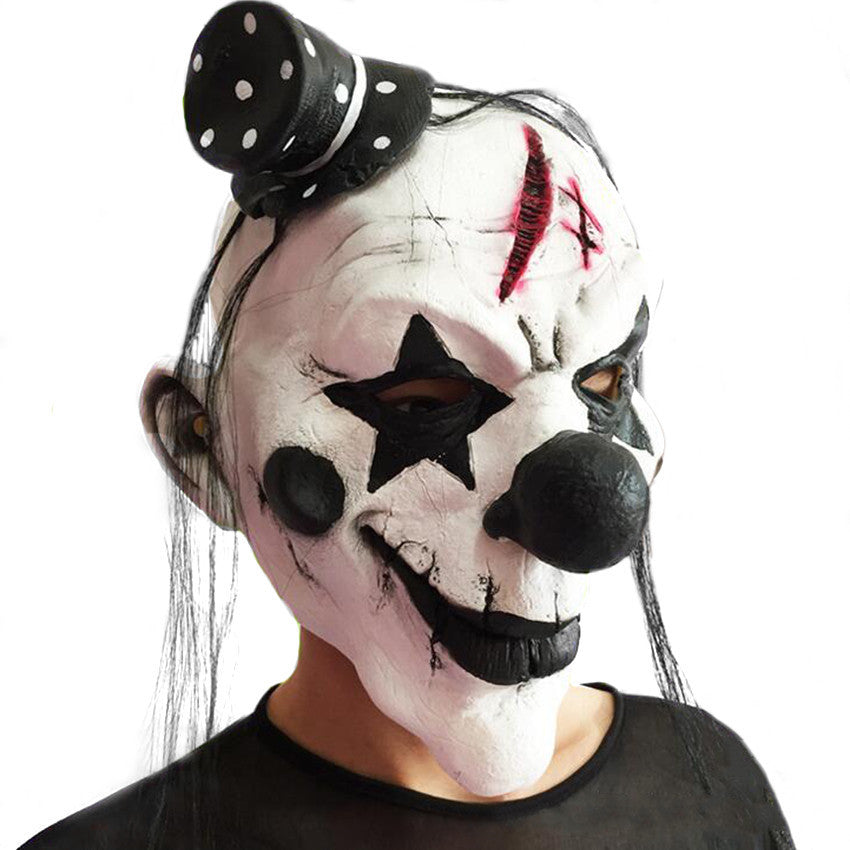 New Coming Funny Clown Halloween Scary Cosplay Costume Props Full Face Ghost Mask Carnival Terror Latex Masks