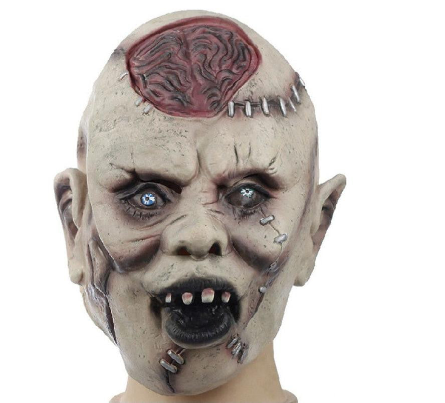 Silicone Masks Halloween Scary Brain Cells Exposed Pattern Scar Wrinkle Mask Masque Horreur #2729