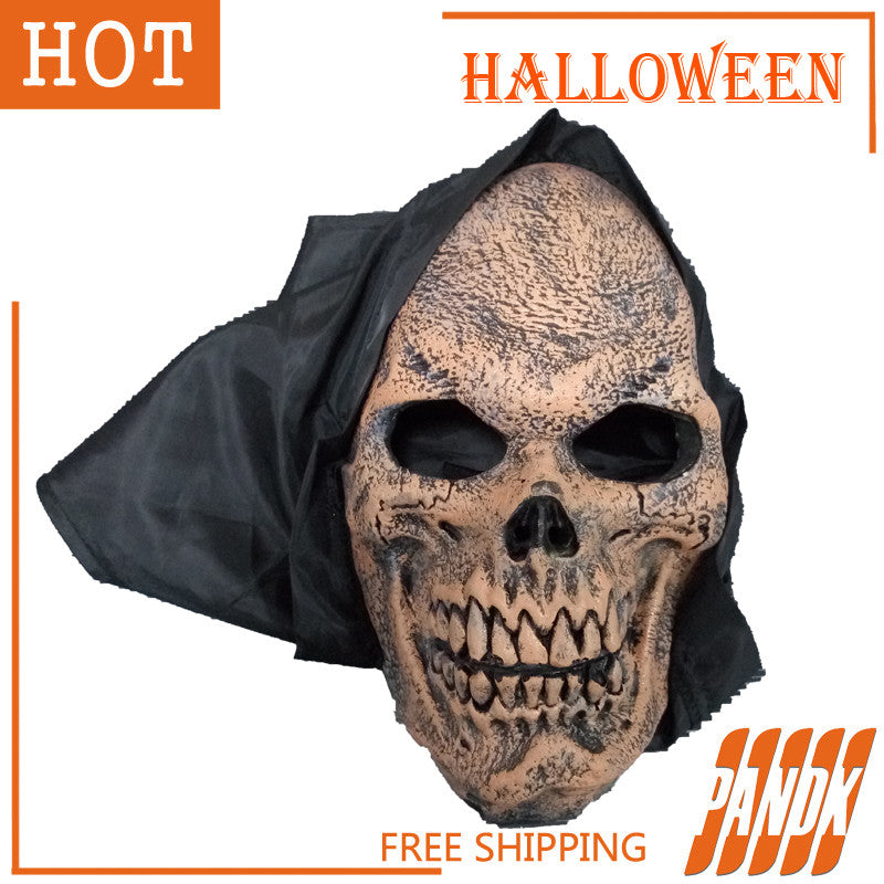 Halloween Props Zombie Ghost Face Mask Scary Halloween Mask Halloween Decorations party dress holiday supplies Free shipping