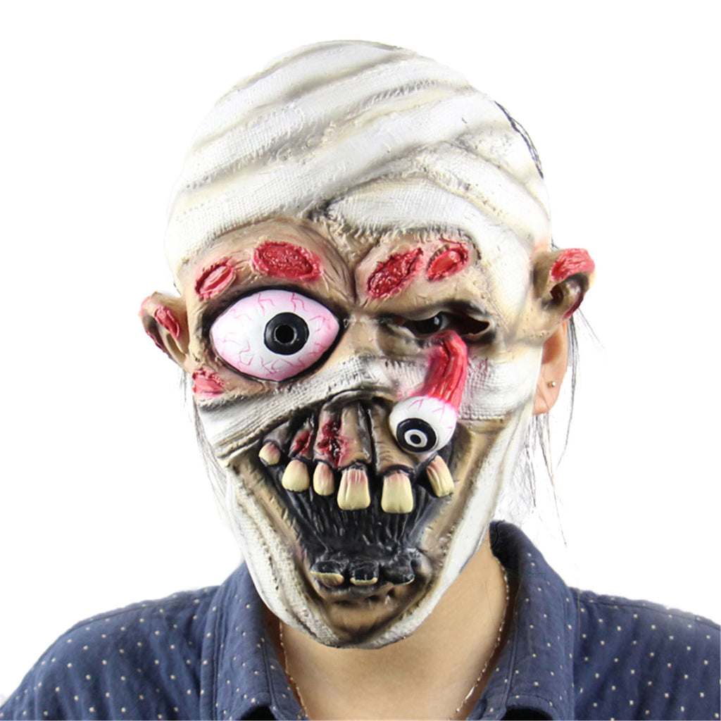 2016 Halloween Horror Masks Adult Costume Mummy Latex Party Scary Mask Christmas Cosplay Prop Fancy Dress Decor