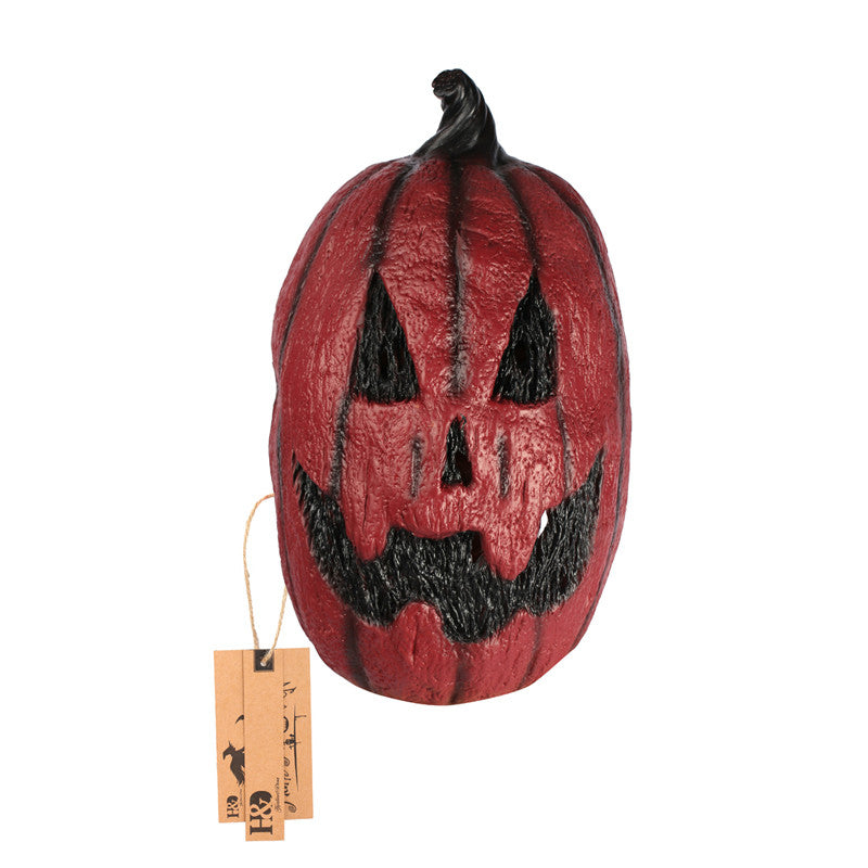 Full Head Pumpkin Scary Latex Mask Grimace Party Mask Horror Masquerade Adult Movie Mask Halloween Props Costumes Fancy Dress