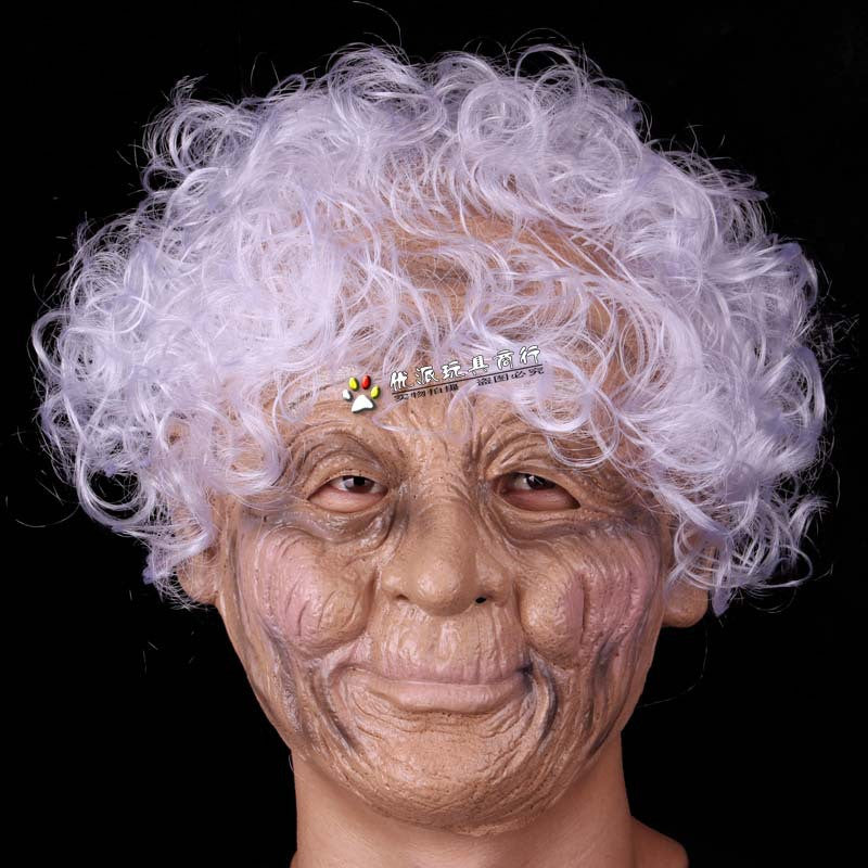 Halloween old lady Witch mask Masquerade Mask Christmas Funny scary latex horror grimace party masks mascaras de latex realista