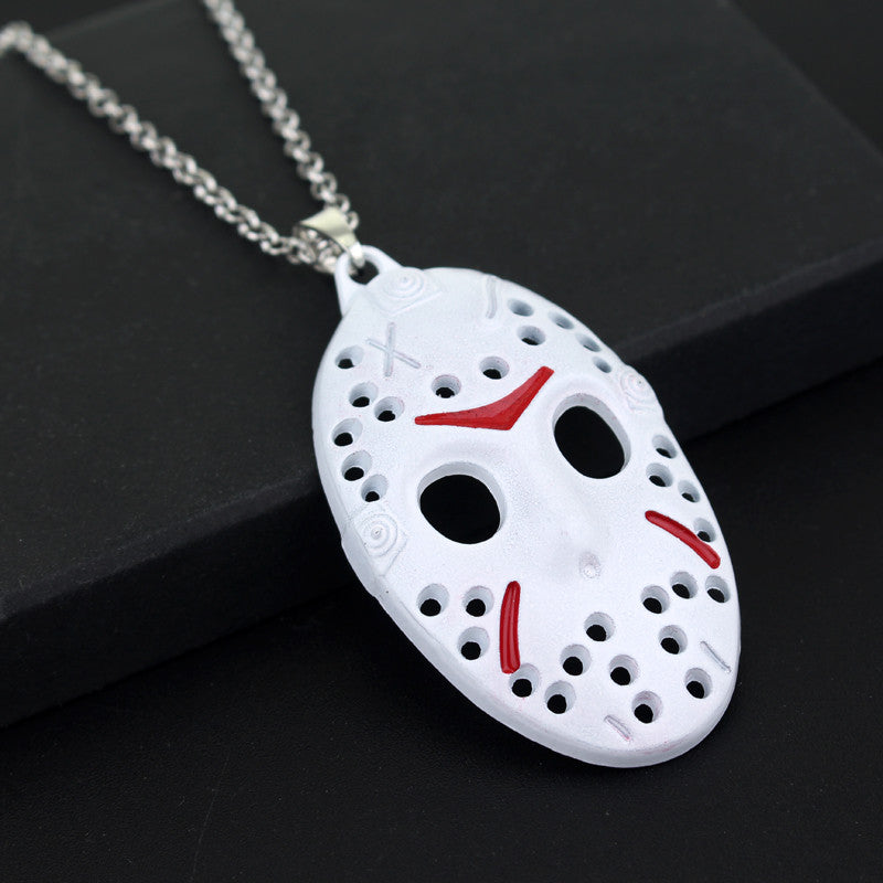 Friday The 13th Necklace Movie Character Jason Voorhees White Mask Pendant Black Friday Necklaces