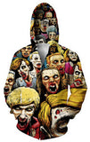Fall/winter coat men/women 3D print jackets Michael Myers Leatherface Hellraiser jacket clothing baseball jacket Free shipping