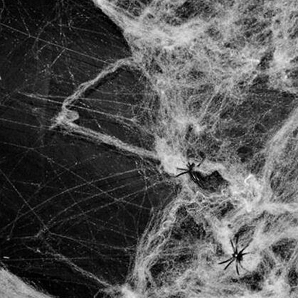 New Halloween Scary Party Scene Props White Stretchy Cobweb Spider Web Horror Halloween Decoration For Bar Haunted House