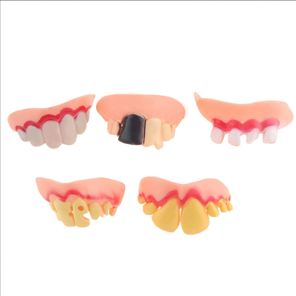 2016 1pc Hot Selling Fake Teeth For Halloween Decoration Party Prop Masquerade Cosplay Random send