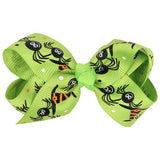 Halloween bow hairpin Cartoon printing butterfly children Hair Accessories Mesh Festival Holiday Photo Prop hear clips 2016 new