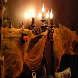 2016 Halloween Scary Party Scene Props 5colours Cobweb Spider Web Horror Halloween Decoration For Bar Haunted House