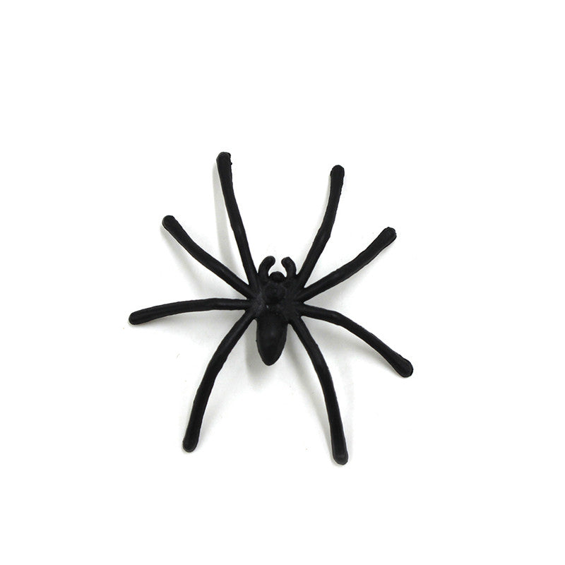 1pc Plastic Black Spider Halloween Decoration Festival Supplies Funning Toys Decoration Realistic Prop