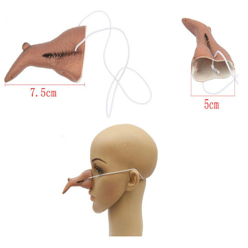 Creative Design Witch Cosplay Resin Long Nose Mask Threater Party Cosplay Costume Props